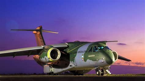 wallpaper embraer kc  transport aircraft military