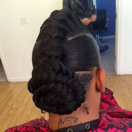 black french braid bun 20 fancy french braids for black women