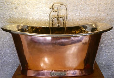 copper bathroom royal copper bath with nickel interior chadder co