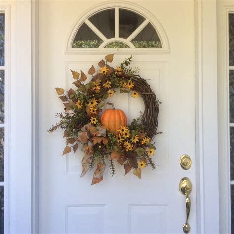 Front Door Wreaths For Fall Fall Wreaths Pumpkin Wreath Front Door Decor Autumn