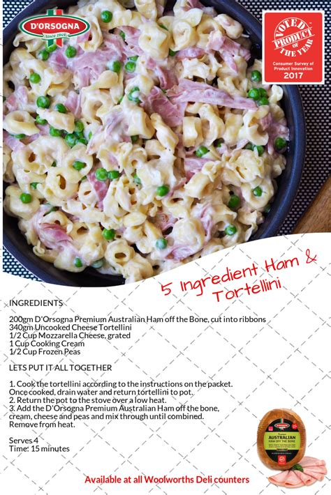 5 ingredients recipes for cooker be busy not hungry books 5 ingredient 15 minute ham and cheese tortellini