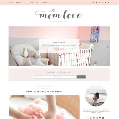 theme blog love mom love blogger theme blog pixie
