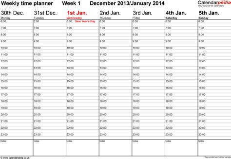 weekly calendar template 2014 weekly calendar 2014 uk free printable templates for pdf