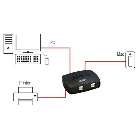 Auto Switch 2 Port Usb 2 Port Usb 2 0 Autoswitch From Lindy Uk