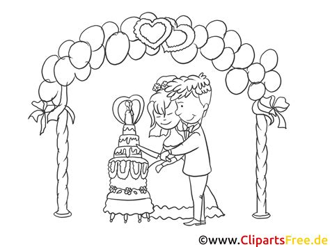 Hochzeit Zeichnung by Kirchliche Trauung Clipart Zeichnung Bild Schwarz Weiss