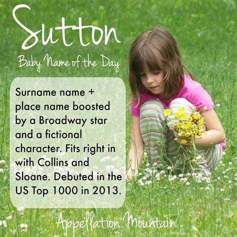 for gorgeous baby names get sutton baby name of the day appellation mountain