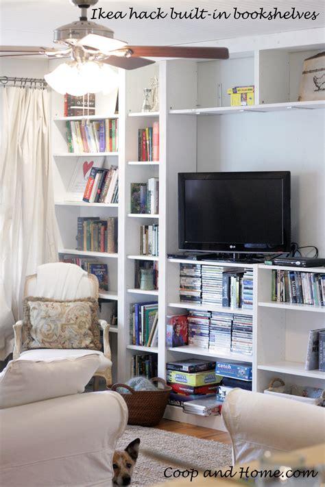 ikea bookcase built in hack ikea hack built in bookshelves coop and home