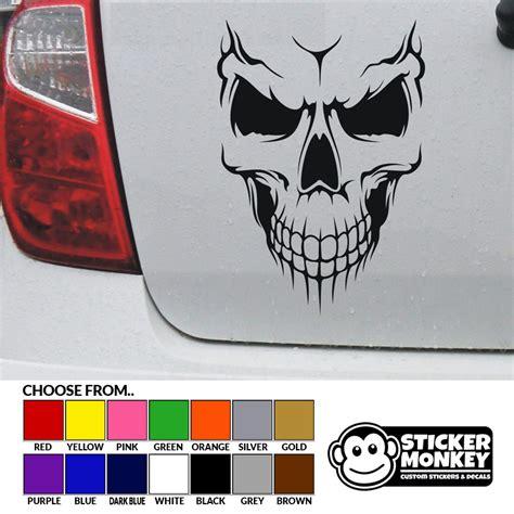 boat car decals smiling skull vinyl car decal sticker bike boat bumper