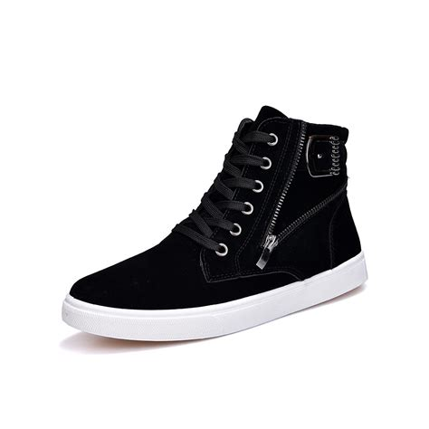 flock leather casual shoes korean fashion winter