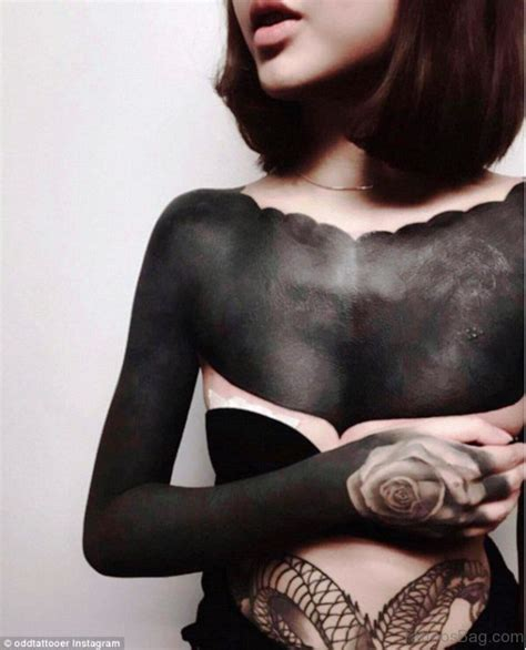 84 marvelous all black tattoos on chest