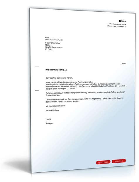 Musterbrief Bearbeitungsgebühr Kredit Zum Drucken Zur 252 Ckweisung Rechnung F 252 R Mehrleistungen Muster Zum