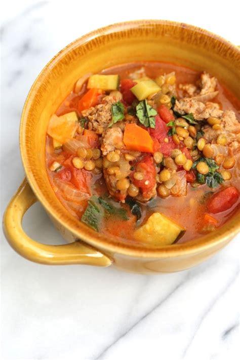 lentil sausage soup healthy choice soups archives five silver spoons