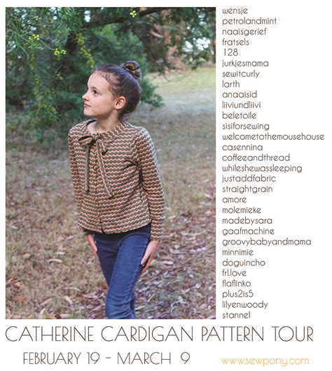 stendous rubber sts mouse house designs catherine cardigan tour sew pony