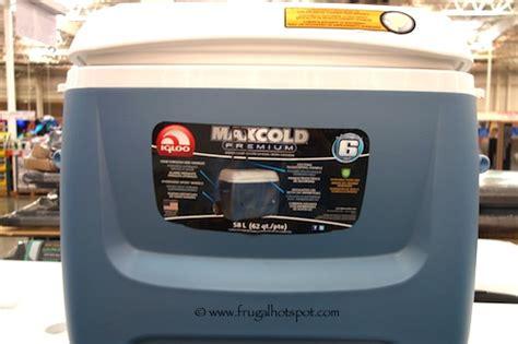 igloo maxcold 62 qt rolling cooler costco igloo maxcold 62 quart rolling cooler frugal hotspot