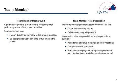 standard org chart descriptions