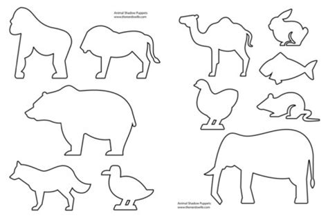 free shadow puppet templates 6 best images of animal templates printable free
