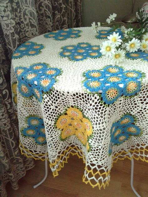 Handmade Tablecloths - crochet tablecloth handmade crochet tablecloth home decor