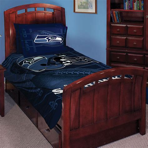 seattle seahawks bed set seattle seahawks nfl twin comforter set 63 quot x 86 quot
