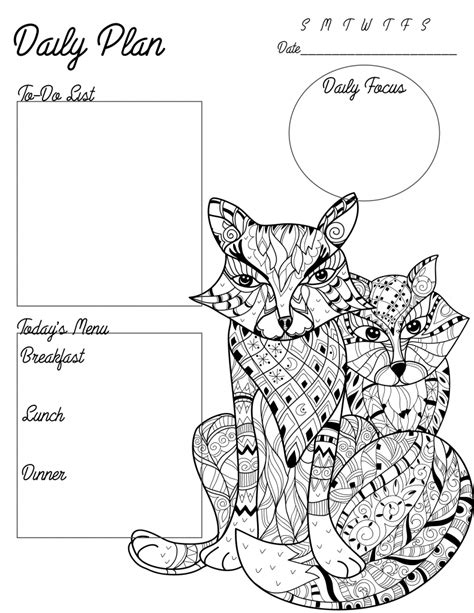 coloring book planner printables archives surviving a teachers salary