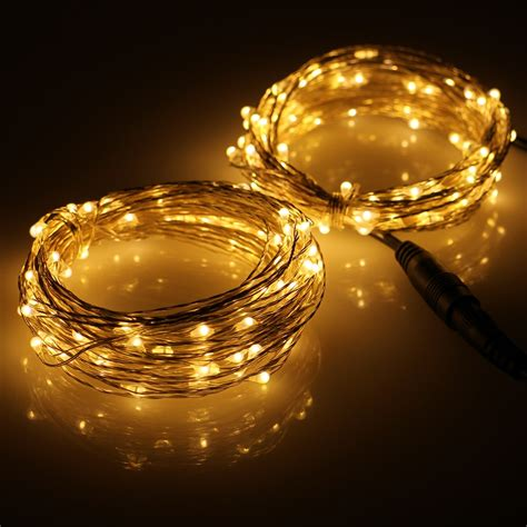 connectable 2 33ft 100 led string lights outdoor silver
