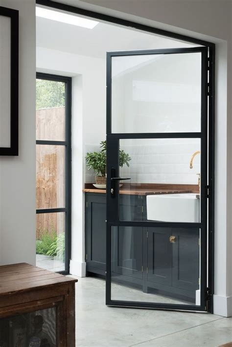33 Stylish Interior Glass Doors Ideas To Rock Digsdigs Metal Framed Glass Doors