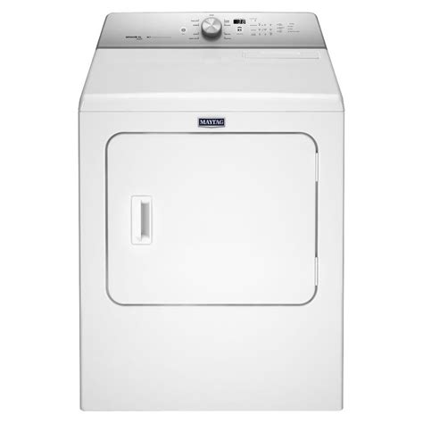 maytag 7 0 cu ft gas dryer with steam in white mgdb755dw