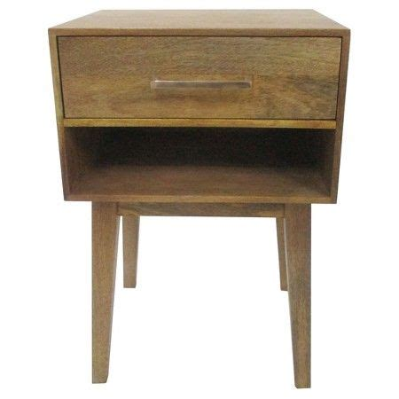 hernwood mixed material console table brown threshold wood one drawer accent table with cubby threshold otter