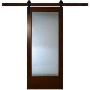interior sliding doors home depot steves sons 30 in x 84 in modern lite glass stained pine interior barn door with