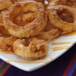 apple rings with cinnamon cream syrup for dipping not