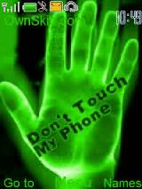 gif themes for mobile phones don t touch my phone color mobile themes for nokia asha 203