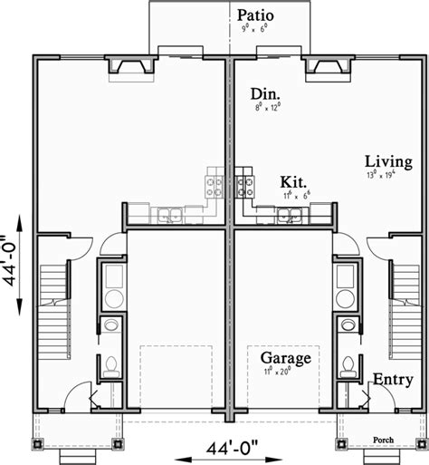 open floor plans with basement open floor duplex house plans with basement d 613
