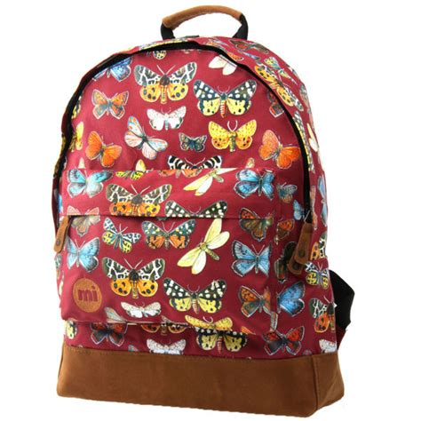 Backpack Butterfly mi pac butterfly backpack burgundy free shipping