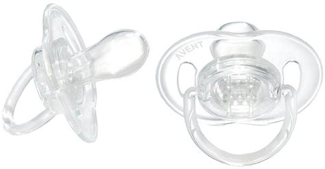Philips Avent Orthodontic Soothers 6 18m philips avent translucent bayby soothers pacifiers bpa