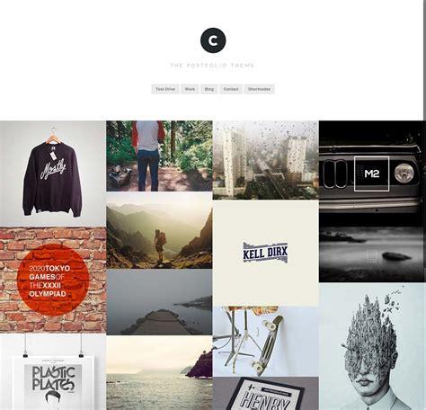 wordpress themes free grid portfolio build your portfolio with a grid based wordpress theme