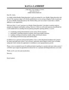 Leading Professional Food Specialist Cover Letter Examples