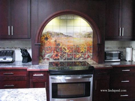 decorative tile backsplash over stove custom made lion kitchen backsplash tile murals by linda paul studio by