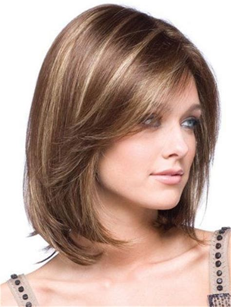 Medium Haircuts With Bangs For Round Faces