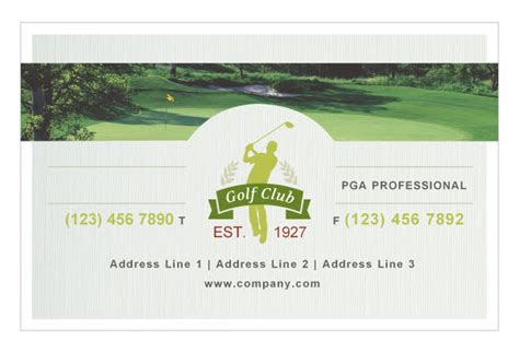 golf business card template golf course print template pack from serif