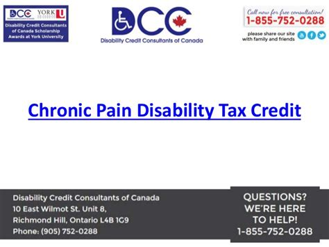 Tax Credit Form For Disability Chronic Disability Tax Credit