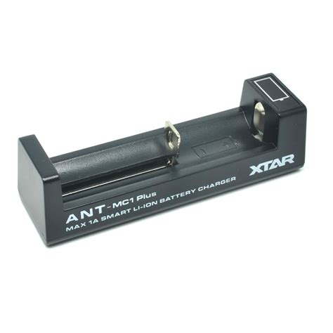 xtar ant mc1 plus portable micro usb battery charger 1 slot for li ion black jakartanotebook