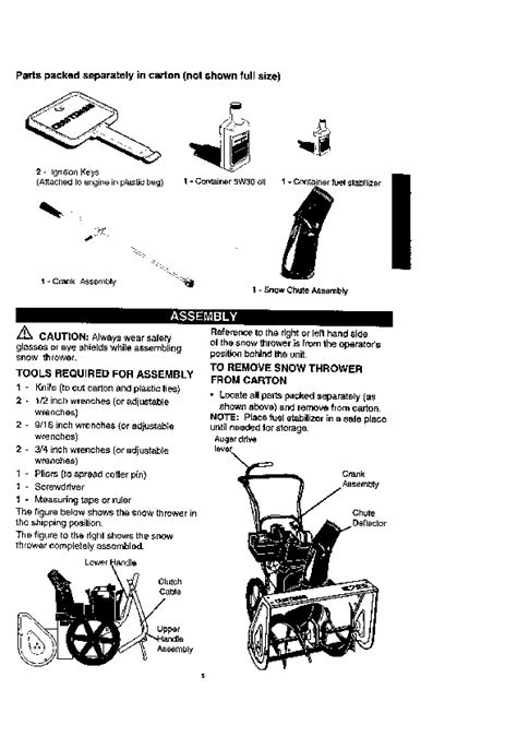 Craftsman 536 884790 22 Inch Snow Blower Owners Manual