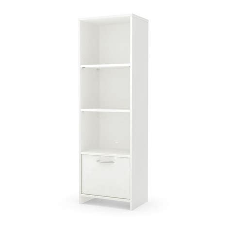 south shore step one white open bookcase 10249 the
