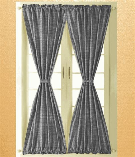 Black And White Gingham Curtains Black And White Gingham Check Door Curtains