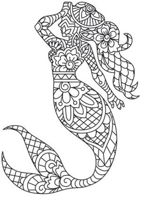 mermaid mandala coloring pages 17 best images about adult colouring under the sea fish