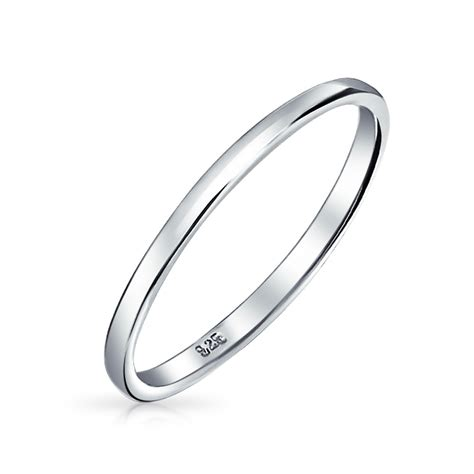 Silver Rings by Versatile Sterling Silver 2mm Thin Wedding Band Thumb Toe Ring