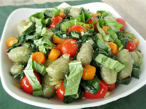 vanilla spice gnocchi with sauteed vegetables