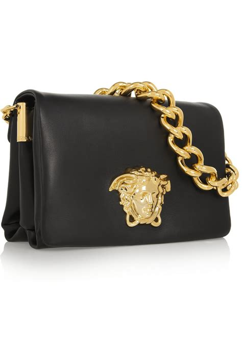 Versace Pocket Shoulder Bag by Versace Leather Shoulder Bag In Black Lyst