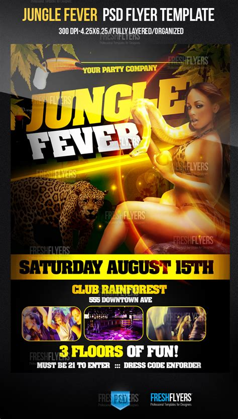 club flyers template jungle fever club flyer template by imperialflyers on