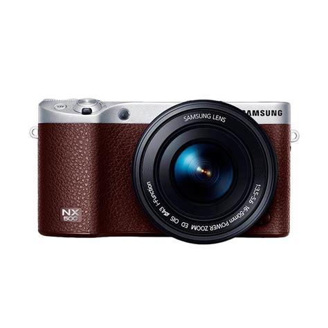 Kamera Mirrorless Samsung Jual Samsung Nx500 Cokelat Kamera Mirrorless Harga Kualitas Terjamin Blibli