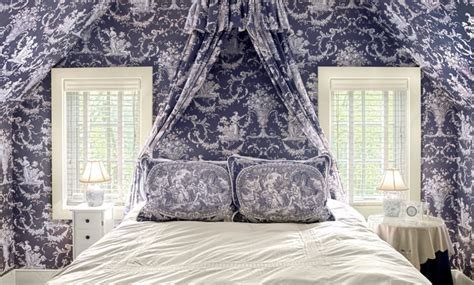 toile wallpaper bedroom blue toile bedroom traditional bedroom richmond by
